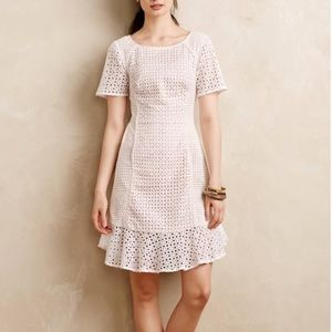 Anthro- HD in Paris Georgia white eyelet dress